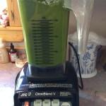 Yum! Fresh batch of green smoothie for Grey