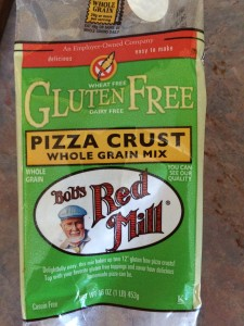 This pizza crust mix is easy to mix and though the texture is not traditional it ia tasty!