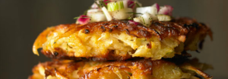 Celery Root and Fennel Latkes